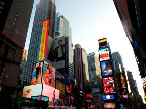 Times Square à l'aube