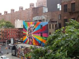 Highline graffiti, art urbain
