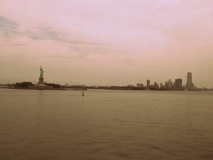 Vue Manhattan, Statue Liberté depuis ferry