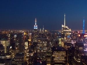 Vue nuit New-York