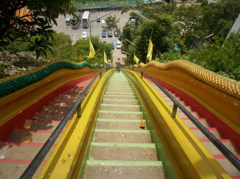 Escaliers Wat Tham Seua et Wat Tham Khao Noi